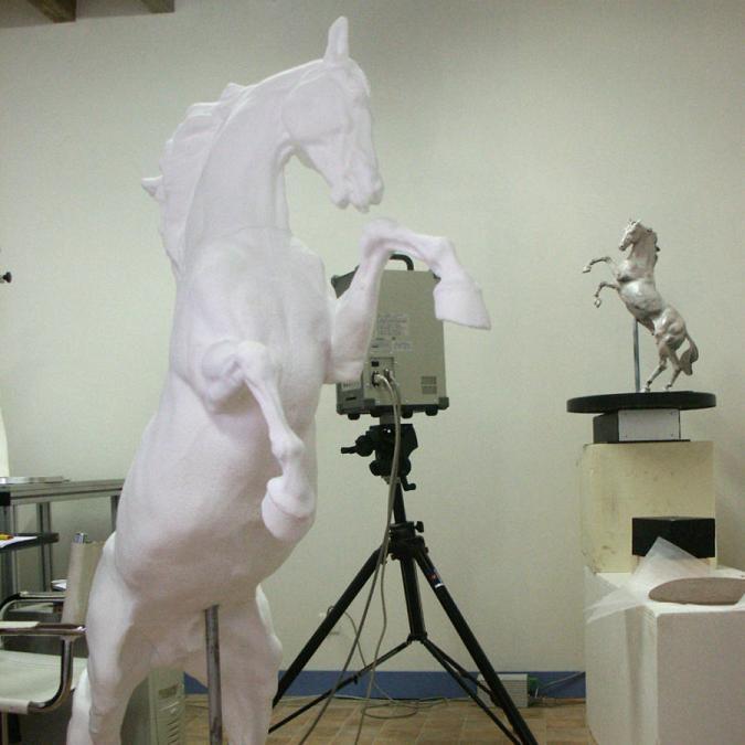 agrandissement sculpture creaform